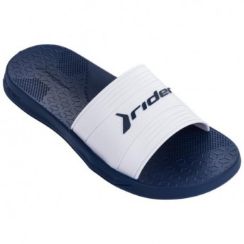 LIBERTY blue and white flat shovel flip flops for man