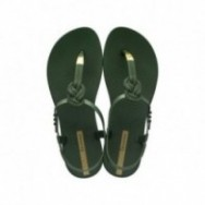 CLASS GLAM II cristina pedroche green flat finger sandals for woman