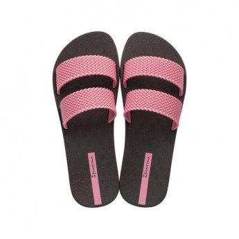 CITY brown and pink flat shovel flip flops for woman