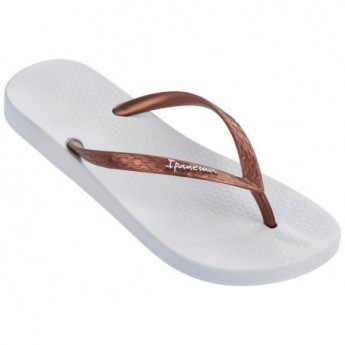 ANATOMICA TAN brown and white flat finger flip flops for woman