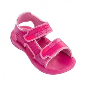 BASIC SANDAL III pink flat roman sandals for baby