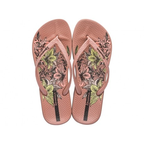 ANAT TEMAS VIII F pink floral print flat finger flip flops for woman