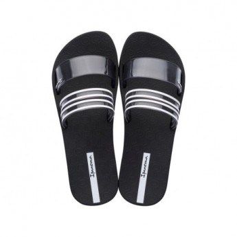 NEW chica ipanema black and grey flat shovel flip flops for woman