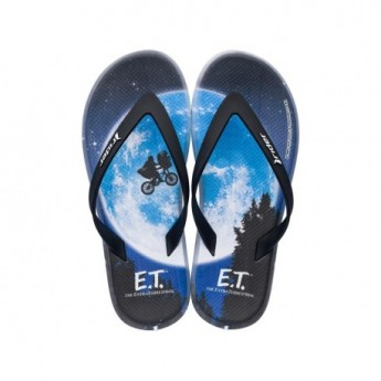 RIDER BLOCKBUSTER universal black fantasy print flat finger flip flops for man