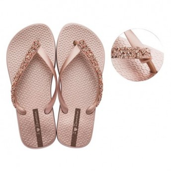 GLAM SPECIAL cristina pedroche pink flat finger flip flops for woman