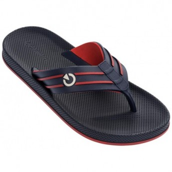 SIENA blue and red flat finger flip flops for man
