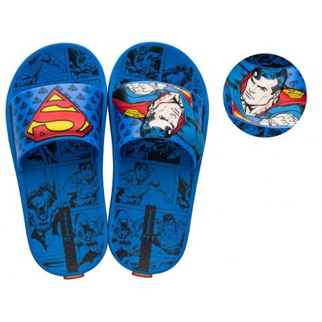IPANEMA LIGA DA JUSTICA black and blue fantasy print flat shovel flip flops for child