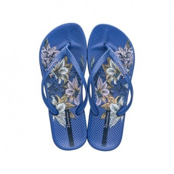 ANAT TEMAS VIII F blue floral print flat finger flip flops for woman