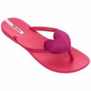 MAXI FASHION II cristina pedroche pink and red flat finger flip flops for woman