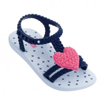 MY FIRST IPANEMA BABY blue and pink flat roman sandals for baby