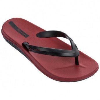 ANATOMIC LAPA black and wine flat finger flip flops for man