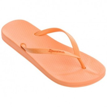 ANAT COLORS orange flat finger flip flops for woman