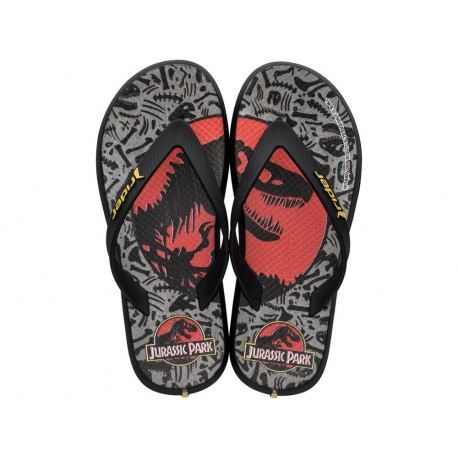 RIDER UNIVERSAL black and grey fantasy print flat finger flip flops for child