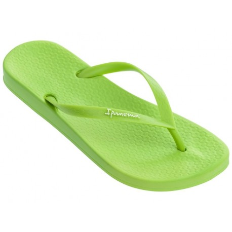 ANAT COLORS green flat finger flip flops for woman