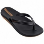 ANATOMIC LAPA black flat finger flip flops for man