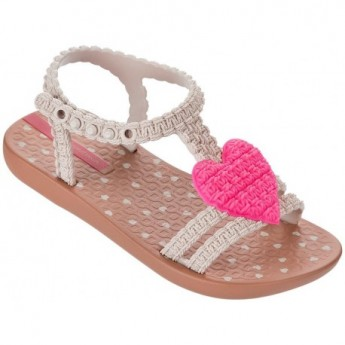 MY FIRST IPANEMA BABY brown and pink flat roman sandals for baby