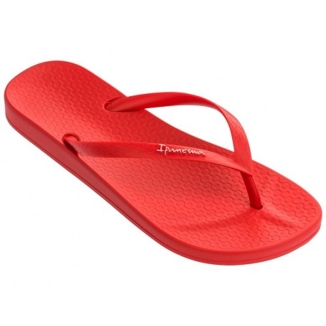 ANAT COLORS red flat finger flip flops for woman