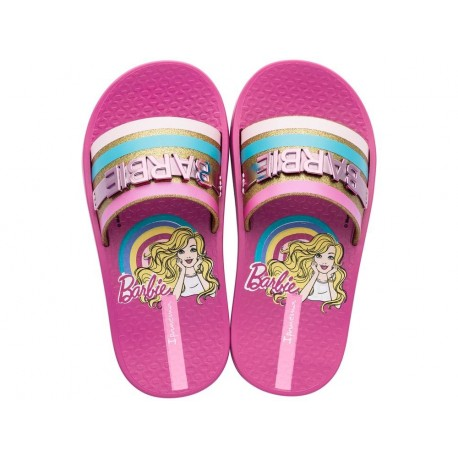 IPANEMA BARBIE gold and pink fantasy print shovel flip flops for child
