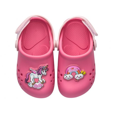 BARBIE BABUCH RAINBOW pink flat closed clogs for baby
