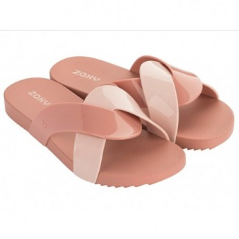 CHECK nude flat shovel flip flops for woman