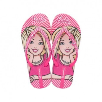 IPANEMA BARBIE STYLE pink and purple fantasy print flat finger flip flops for child