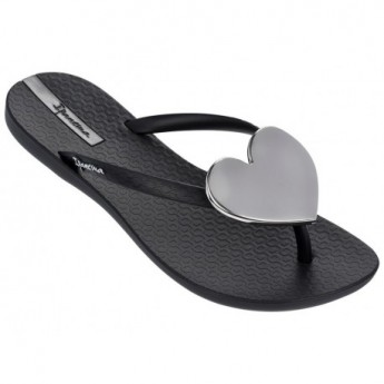 MAXI FASHION II black flat finger flip flops for woman
