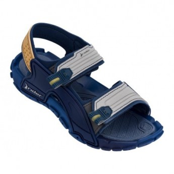 TENDER X blue and grey flat roman sandals for child