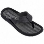 DUNAS VI grey flat finger flip flops for man