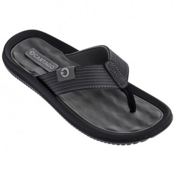 DUNAS VI black and grey flat finger flip flops for man