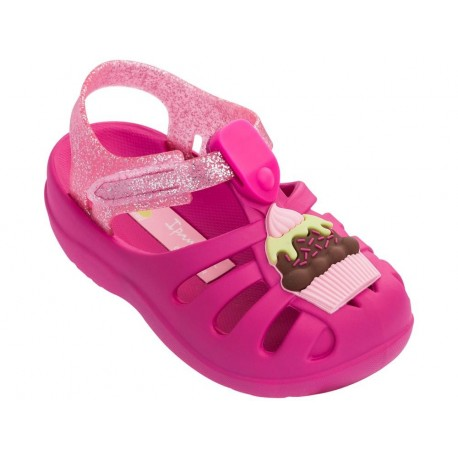 SUMMER V pink flat crab sandals for baby