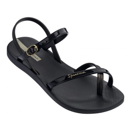 FASHION SAND VII black flat finger sandals for woman