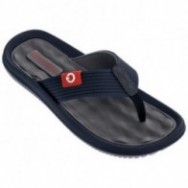 DUNAS VI blue and grey flat finger flip flops for man
