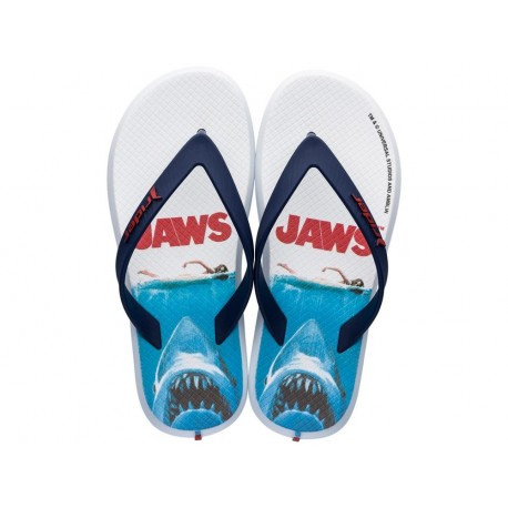 RIDER UNIVERSAL blue fantasy print flat finger flip flops for child