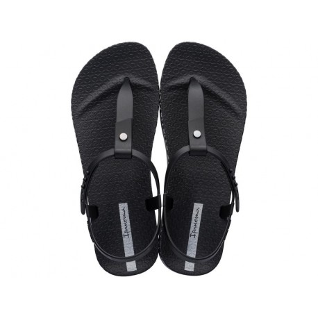 BOSSA SOFT cristina pedroche black flat finger sandals for woman