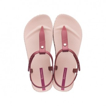 BOSSA SOFT pink and wine flat finger sandals for woman
