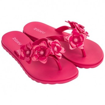 FRESH CHOICE pink flat finger flip flops for woman