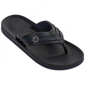 SIENA black and blue flat finger flip flops for man