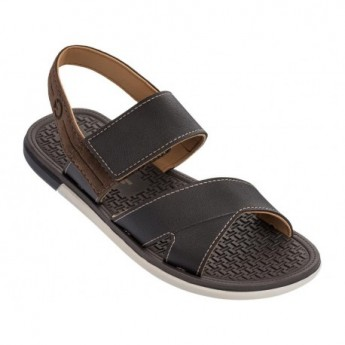 MALI X beige and brown flat roman sandals for man