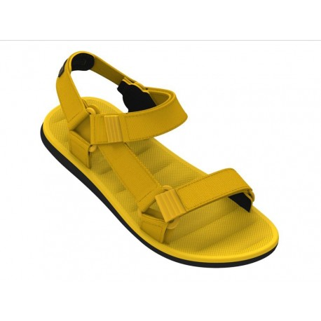 MKT RX MASC black and yellow flat roman sandals for man