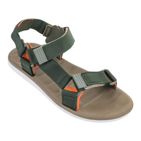 MKT RX MASC beige and green flat roman sandals for man