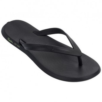 R1 + black flat finger flip flops for man