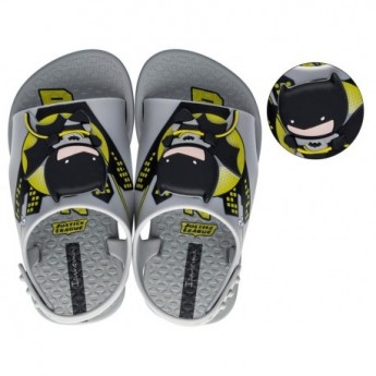 IPANEMA LIGA DA JUSTICA black and yellow fantasy print flat open clogs for baby