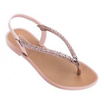TROPICALIA brown and pink flat finger sandals for woman