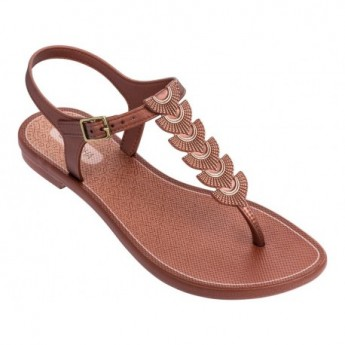 GLAMOROUS brown flat finger sandals for woman