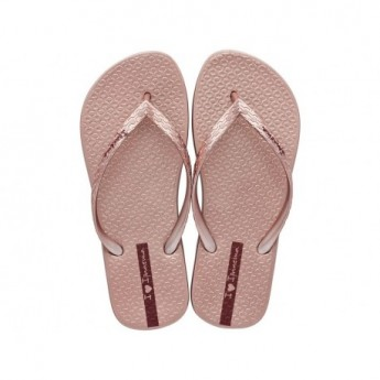 GLAM cristina pedroche pink flat flip flops for woman