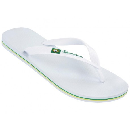 CLAS BRASIL II white flat finger flip flops for man