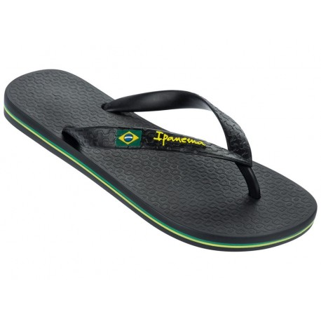 CLAS BRASIL II black flat finger flip flops for woman