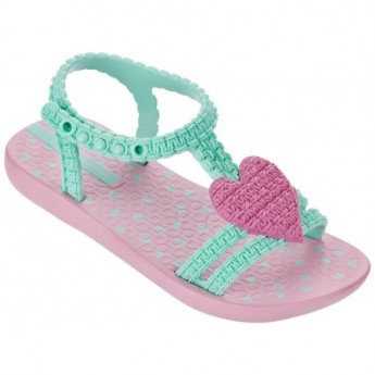 MY FIRST IPANEMA BABY green and pink flat roman sandals for baby