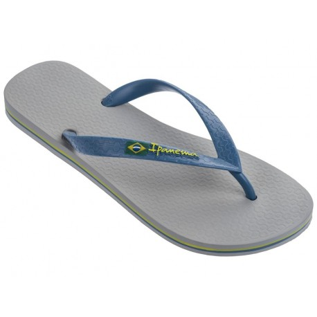 CLAS BRASIL II blue and grey flat finger flip flops for man