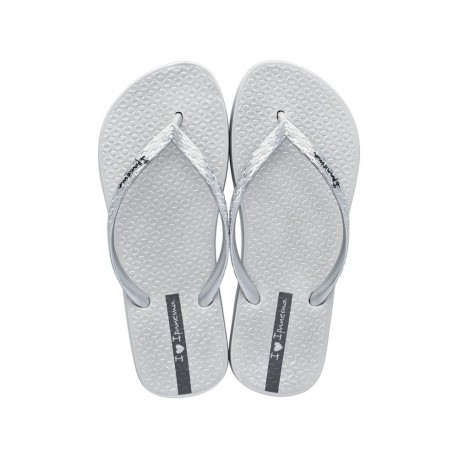 GLAM cristina pedroche silver flat finger flip flops for woman